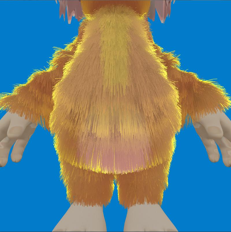 rendering fur using tessellation interplay of light